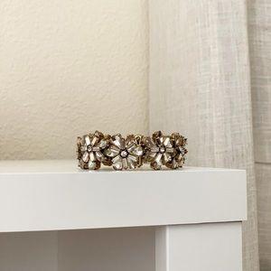 J. Crew Floral Crystal Bracelet